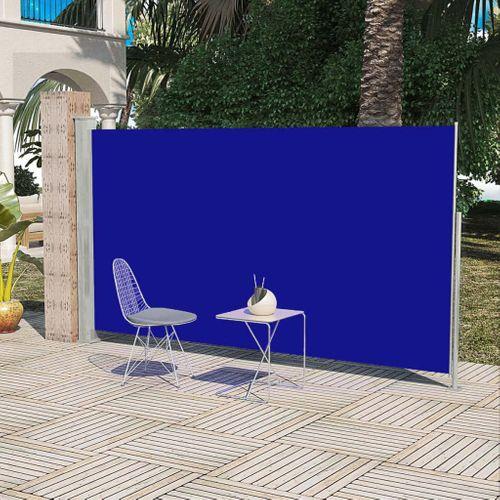 Uittrekbaar wind- / zonnescherm 180 x 300 cm blauw