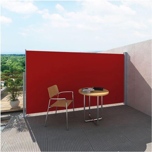 Uittrekbaar wind- / zonnescherm 180 x 300 cm rood