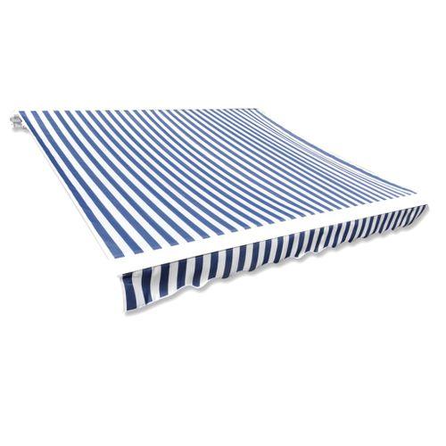 Canvas zonnescherm met luifel exclusief frame 300 x 250cm blauw wit