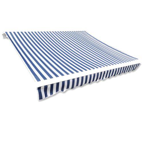 Canvas zonnescherm met luifel exclusief frame 600 x 300cm blauw wit