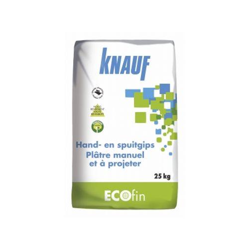 Plâtre manuel et à projeter Knauf 'Ecofin' 25 kg