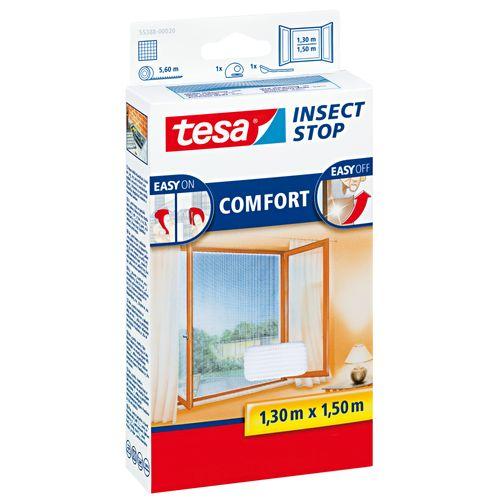 Moustiquaire pour fenêtre Tesa 'Comfort' blanc 1,30 x 1,50 m