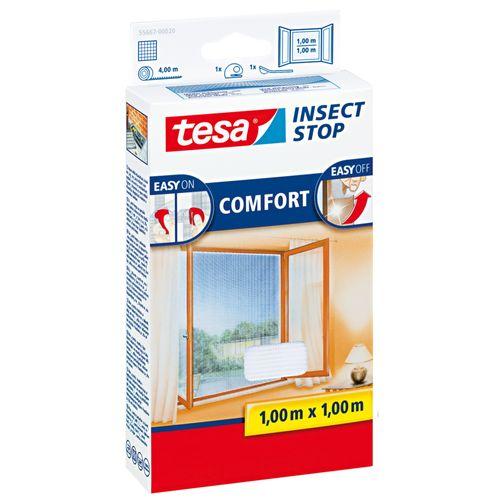 Moustiquaire pour fenêtre Tesa 'Comfort' blanc 1 x 1 m