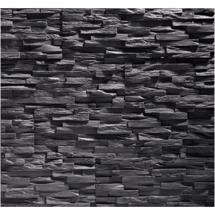 Klimex steenstrip 'UltraLight Benevento' antraciet 0,63 m² - 6 pcs