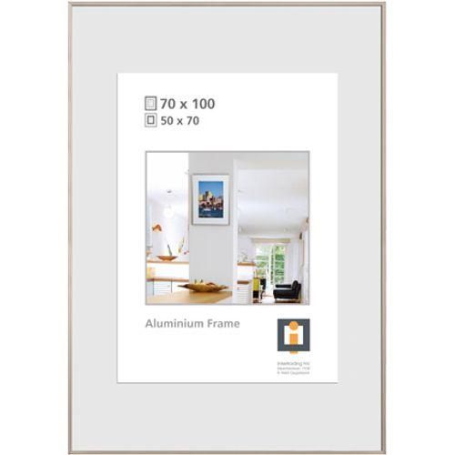 Cadre photo Intertrading argenté 70 x 100 cm