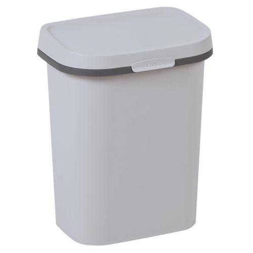 Poubelle Curver Mistral Flat 10L PVC recyclé gris clair