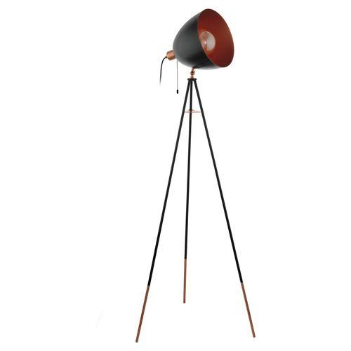 EGLO vloerlamp Chester zwart E27