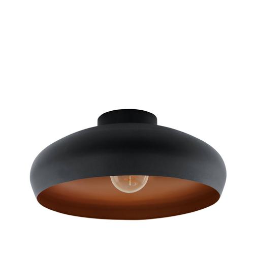EGLO plafondlamp Mogano zwart 40cm 1x60W