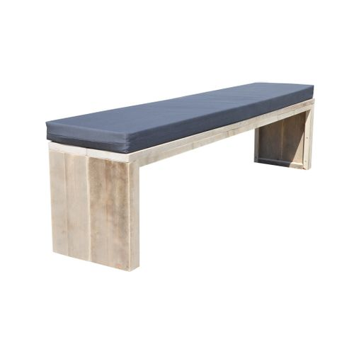 Wood4you tuinbank steigerhout + kussen 200cm