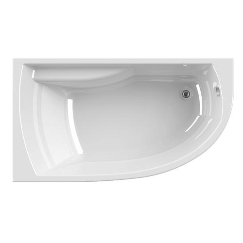 Allibert Diva acrylam asymmetrisch bad rechts 160 x 90cm