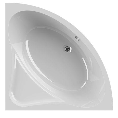 Baignoire d'angle Allibert Diva 135x135x52,5-54cm blanche