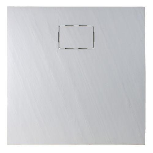Allibert douchebak Rockstone vierkant 90x90cm wit mat