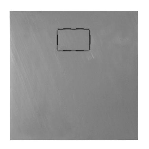 Allibert douchebak Rockstone vierkant 90x90cm grijs leisteen mat