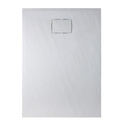 Allibert douchebak Rockstone rechthoekig 120x90cm wit mat