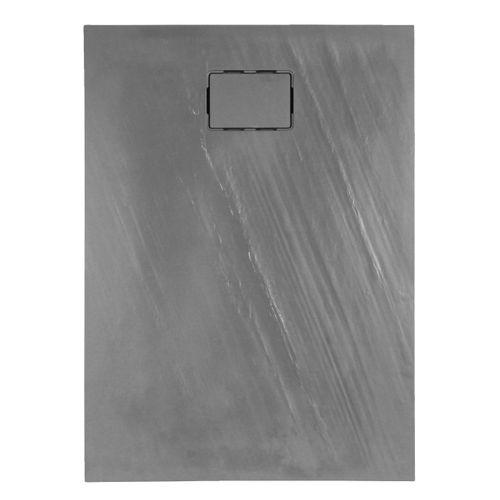 Receveur de douche Allibert Rockstone rectangulaire 120x90cm gris ardoise mat