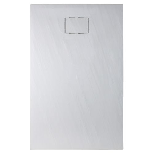 Allibert douchebak Rockstone rechthoekig 140x90cm wit mat