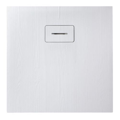 Allibert douchebak Woodstone vierkant 90x90cm wit mat