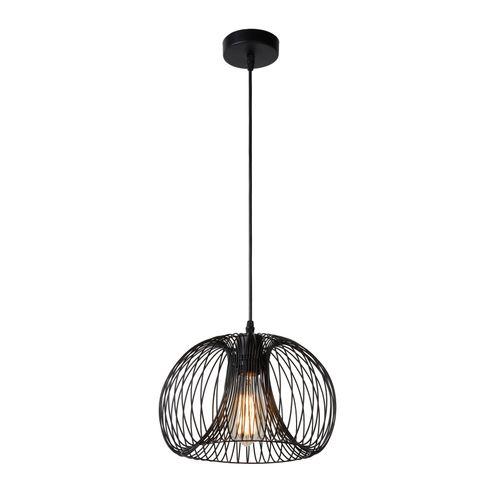 Lucide hanglamp 'Vinti Ø 30 cm' zwart 60 W
