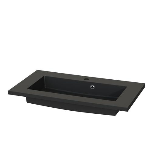 Tiger wastafel S-line Quadro zwart mat 80cm
