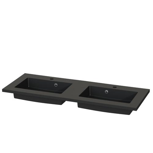 Tiger wastafel S-line Quadro 120cm mat zwart