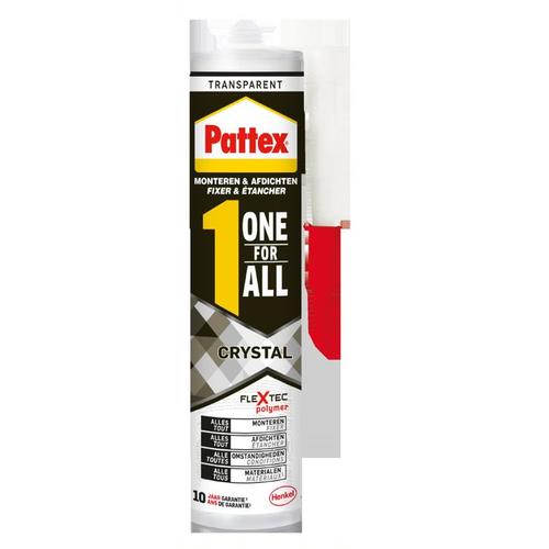 Pattex montagelijm One For All Crystal transparant 290g