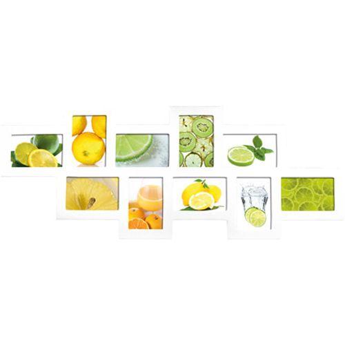 Cadre photo Intertrading 'Multi fruits' blanc 35,5 x 90 cm