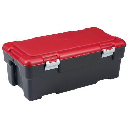 Malle de rangement Keter Voyager 65L PVC noir/rouge