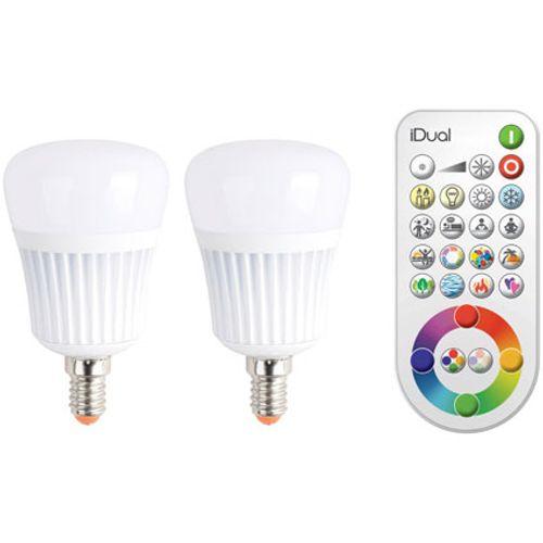 Ampoule E14 'iDual' avec télécommande 7W -2 pcs