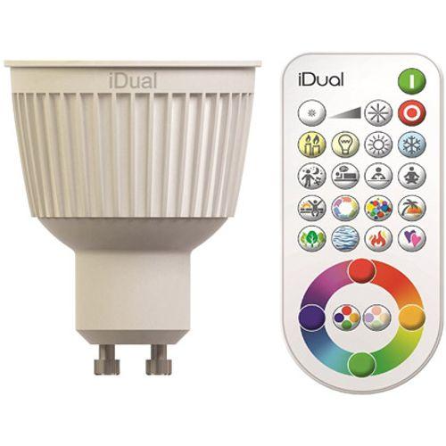 iDual LED lamp dimbaar GU10 2-stuks met afstandsbediening