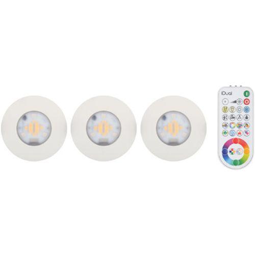 iDual Performa LED badkamer inbouwspot 3 stuks dimbaar alu rond wit zonder afstandsbediening