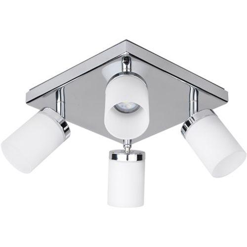 iDual Citrine LED plafondlamp 4 spot dimbaar chrome