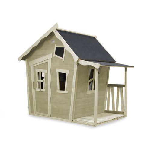 EXIT Crooky 150 houten speelhuis grijs-beige