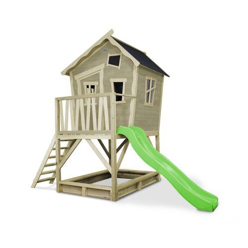 EXIT Crooky 500 houten speelhuis grijs-beige