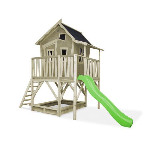 EXIT Crooky 550 houten speelhuis grijs-beige