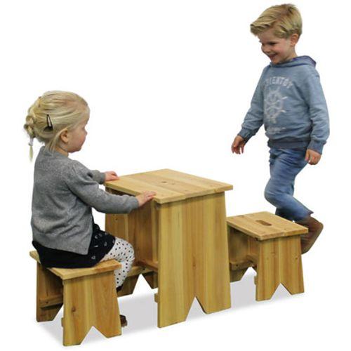 Exit kinderpicknicktafel met banken 'Junior L' 40 x 30 cm