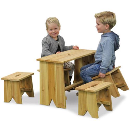 Exit kinderpicknicktafel met banken 'Junior XL' 65 x 30 cm