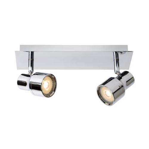 Lucide spotlamp 'Sirene-LED' chroom 2x4,5W