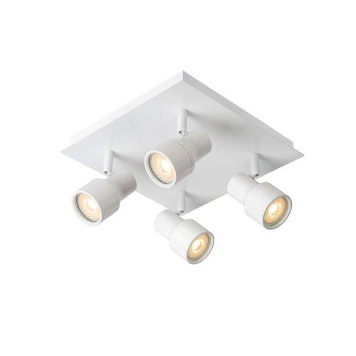 Spot LED Lucide Sirene-Led blanc 4x4,5W
