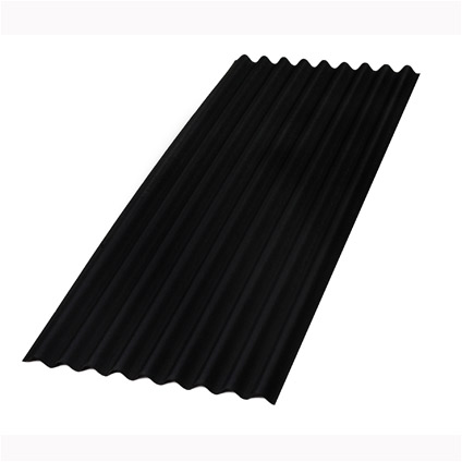 Aquaplan bitumen golfplaat Topline zwart 200 x 86 cm