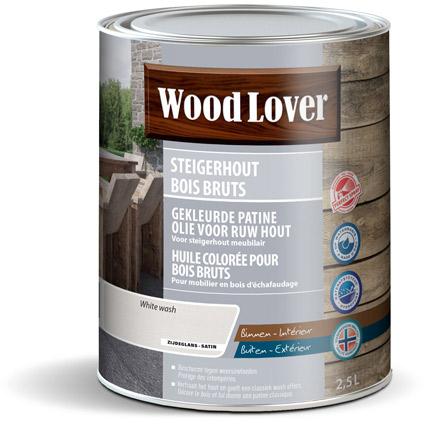Huile colorée bois brut WoodLover blanc 2,5L