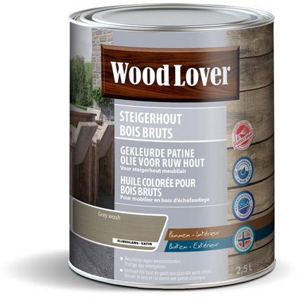 WoodLover steigerhout gekleurd olie grijs 2,5L