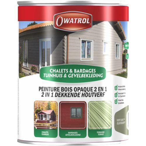 Lasure bois chalet Owatrol '2 en 1' pistache 2,5L