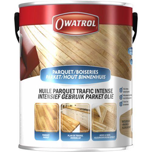 Owatrol intensief gebruik parket olie kleurloos mat 5L