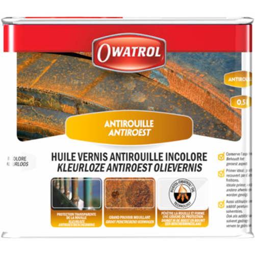 Vernis antirouille Owatrol incolore 500ml