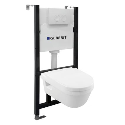 GO by Van Marcke inbouwreservoirpack met Geberit spoeltechniek 3/6L + spoelrandloze V&B toiletpot + toiletzitting