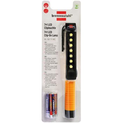 Lampe de poche stylo Brennenstuhl 7 + 1 LED avec clip et aimant