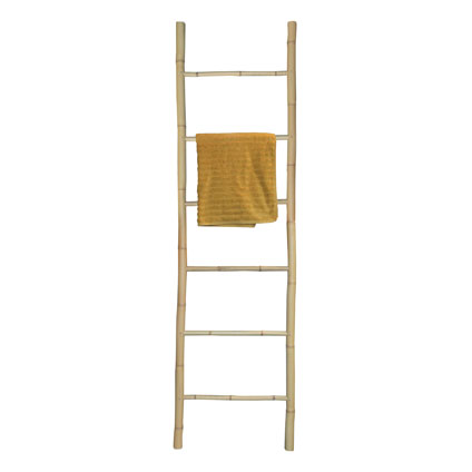 Handdoekenhouder 'Ladder' bamboe 190 cm
