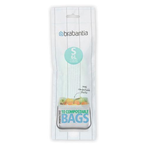 Sac poubelle Brabantia PerfectFit S 6L vert 10 pcs