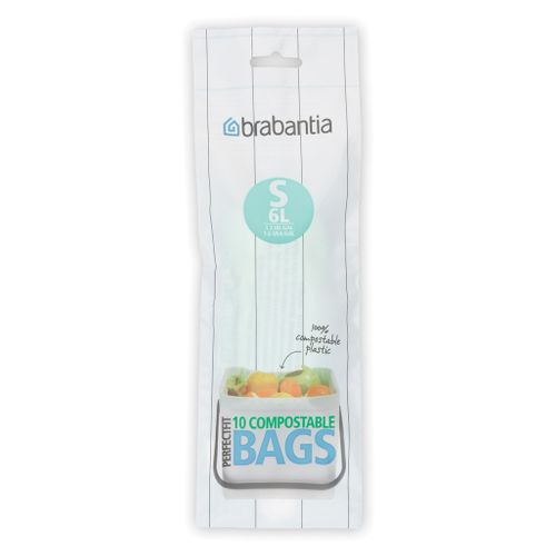 Brabantia afvalzak PerfectFit S groen 6L 10 stuks