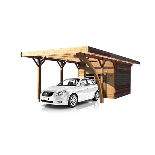 Solid carport combinatie 'S7754' hout 28 m²